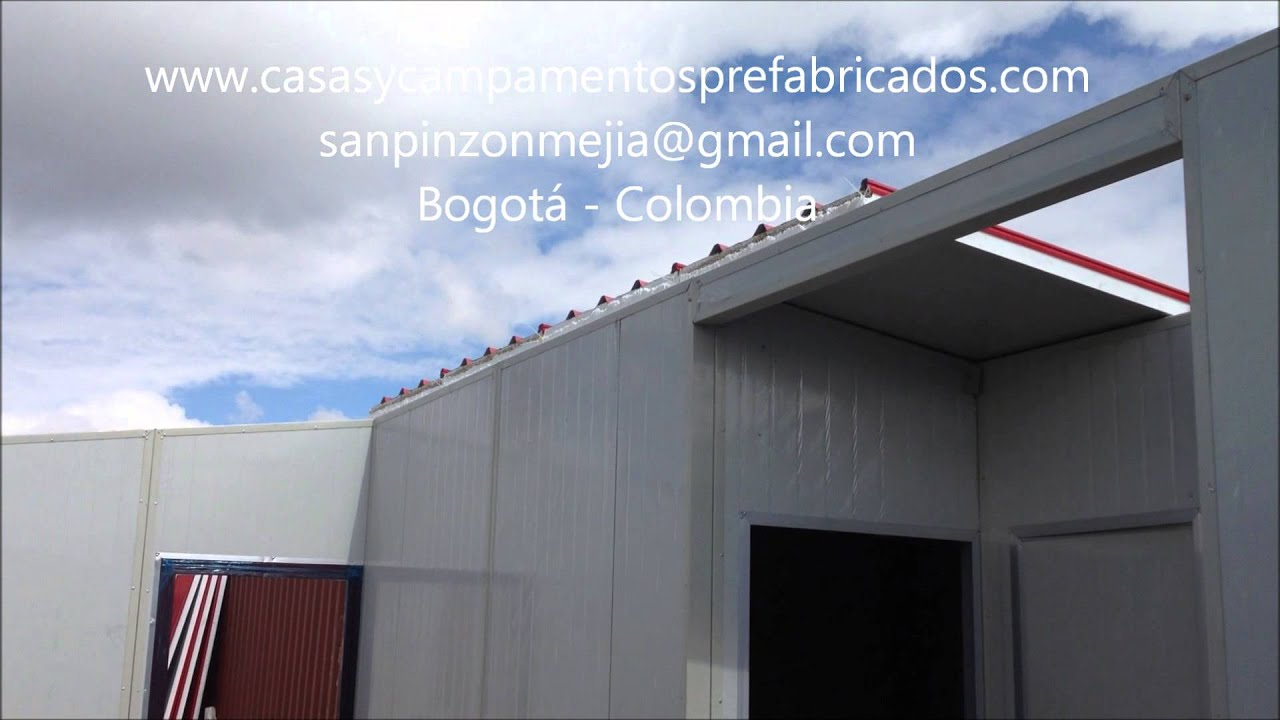 Ensamble de una casa prefabricada de 45 m2 con sandwich panel youtube - Casa panel sandwich ...