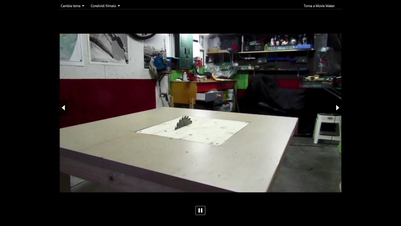 Banco sega fai da te table saw foldable diy youtube for Slitta per banco sega