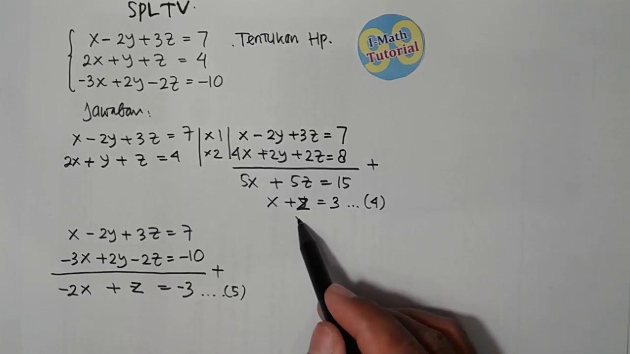 Penyelesaian Sistem Persamaan Linier