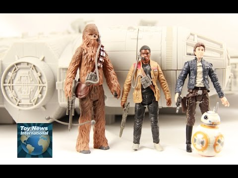 """Star Wars: The Force Awakens 3.75""""  Millennium Falcon Toy Review"""