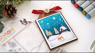 25 Days of Christmas Tags – Day 1 Simon Says Stamp + Video Tutorial