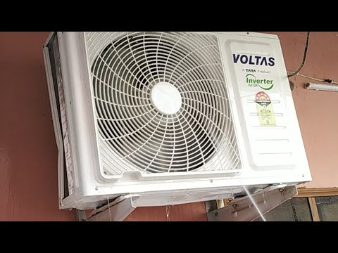AC के outer unit की सफाई  (Air Conditioner Cleaning Indoor and Outdoor)