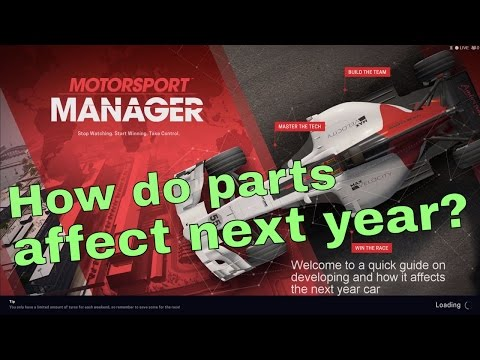 Motorsport Manager 2016 How do parts affect next year car