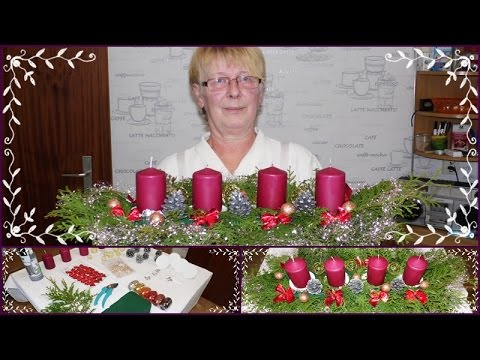 diy adventsgesteck adventskranz weihnachtsdeko selber basteln mit mama youtube. Black Bedroom Furniture Sets. Home Design Ideas