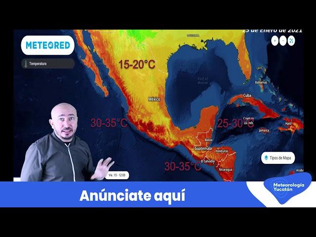 Pronóstico para este viernes 15 de enero en #Mexico, #Centroamerica y el #Caribe.