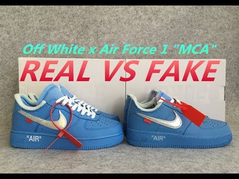 Real vs Fake Off White x Air Force 1 MCA Comparison