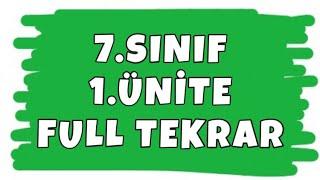 7. SINIF 1. ÜNİTE FULL TEKRAR - TAM SAYILARLA İŞLEMLER - MATEMATİK