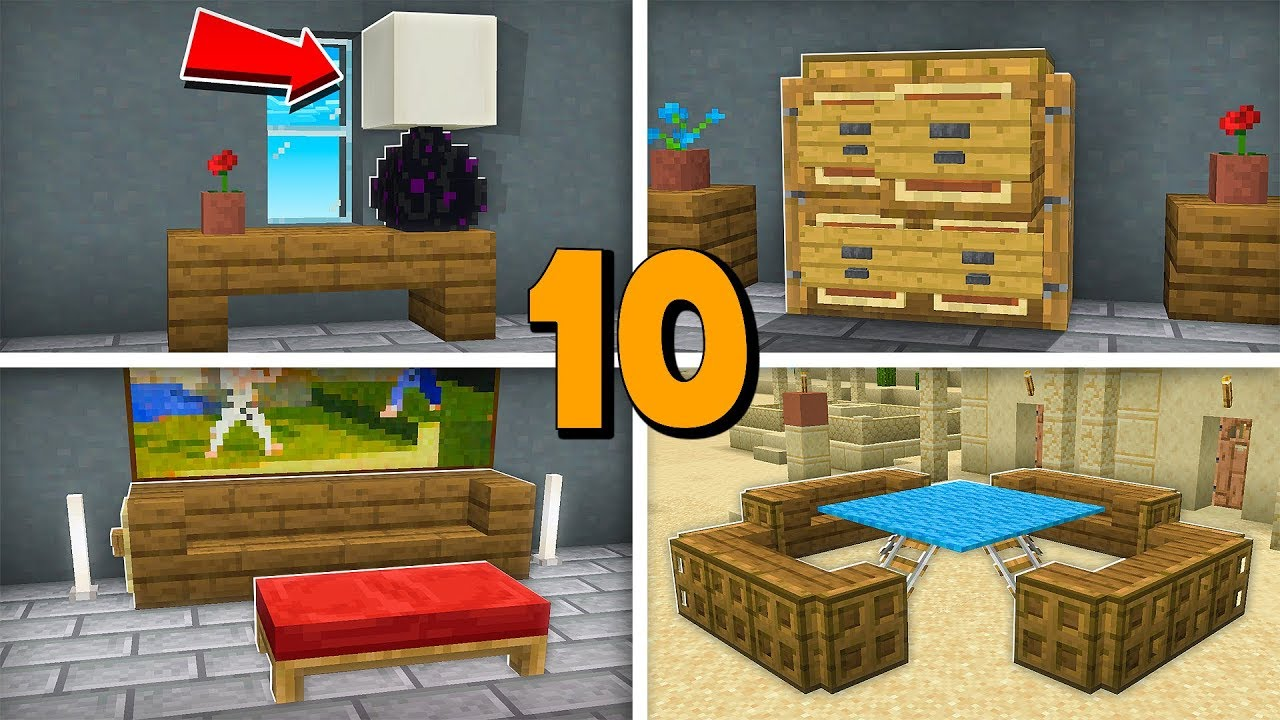 10 Decorations Incroyables Dans Minecraft Youtube