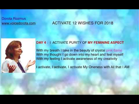 "Day 4 of 12 activation "" Feminine Aspect "" by Dorota Rozmus"