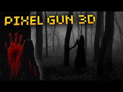 Don't Go Into Slender Forest In Pixel Gun 3D On Halloween... (Scary Story)