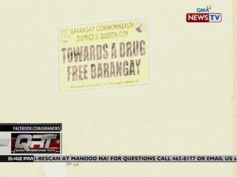 QRT: Mga bahay na ayon sa mga awtoridad ay drug-free, nilagyan ng sticker ng mga taga-barangay