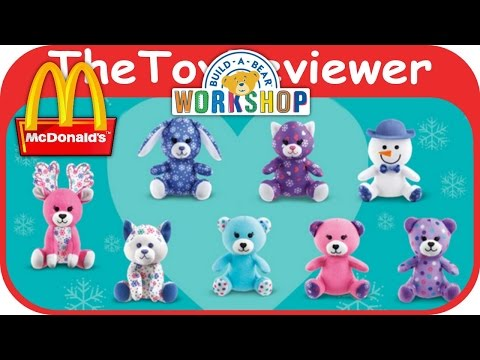 2015 Build-A-Bear Workshop McDonalds Happy Meal Toys COMPLETE 8 Unboxing by the ToyReviewer