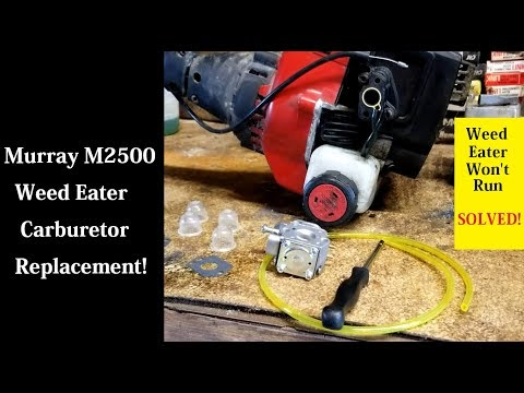 Murray M2500 Weed Eater Carburetor Replacement  | Weed Eater Won't Run FIX!