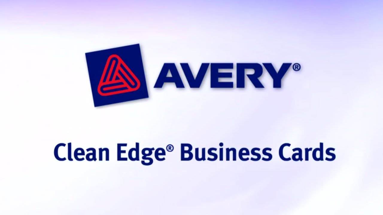 Avery Two-Side Printable Clean Edge Business Cards - YouTube