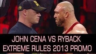 WWE Extreme Rules 2013 - John Cena Vs Ryback WWE Championship Match Promo HD ( WWE 13 Simulation )