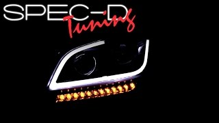 SPECDTUNING DEMO VIDEO: 2010-2011 KIA SOUL LED BAR PROJECTOR HEADLIGHTS