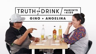 Parents and Kids Play Truth or Drink (Angelina & Gino)