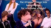 the stranger things kids being memes for 4 minutes straight