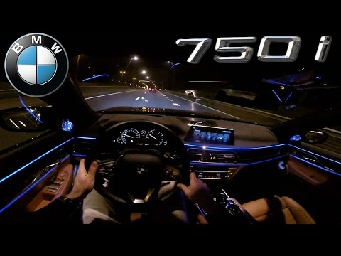 POV 2016 BMW 7 Series NIGHT DRIVE INTERIOR LIGHTING