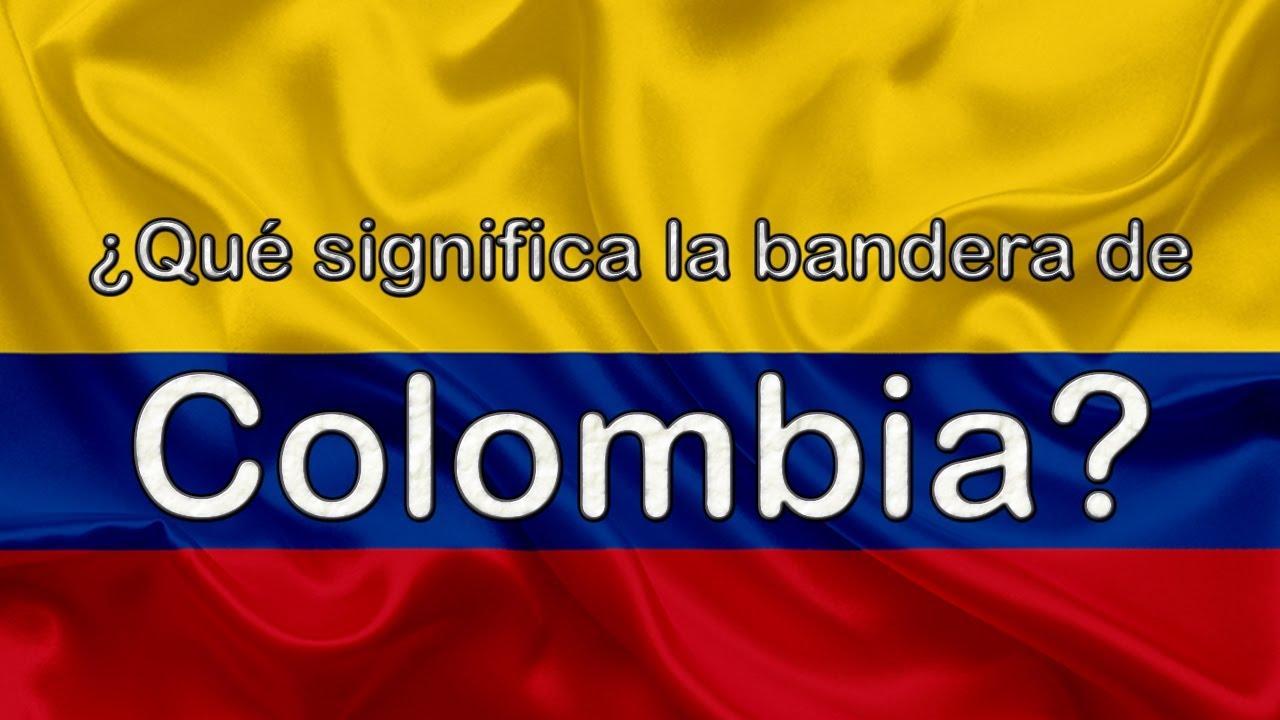 colores de la bandera de colombia en ingles