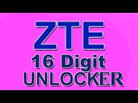 Zte 16 digits unlock calculator - YouTube