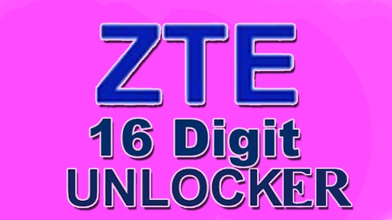 Zte 16 digits unlock calculator