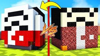 NOOB TERS MASKE EVİ VS PRO TERS MASKE EVİ - Minecraft
