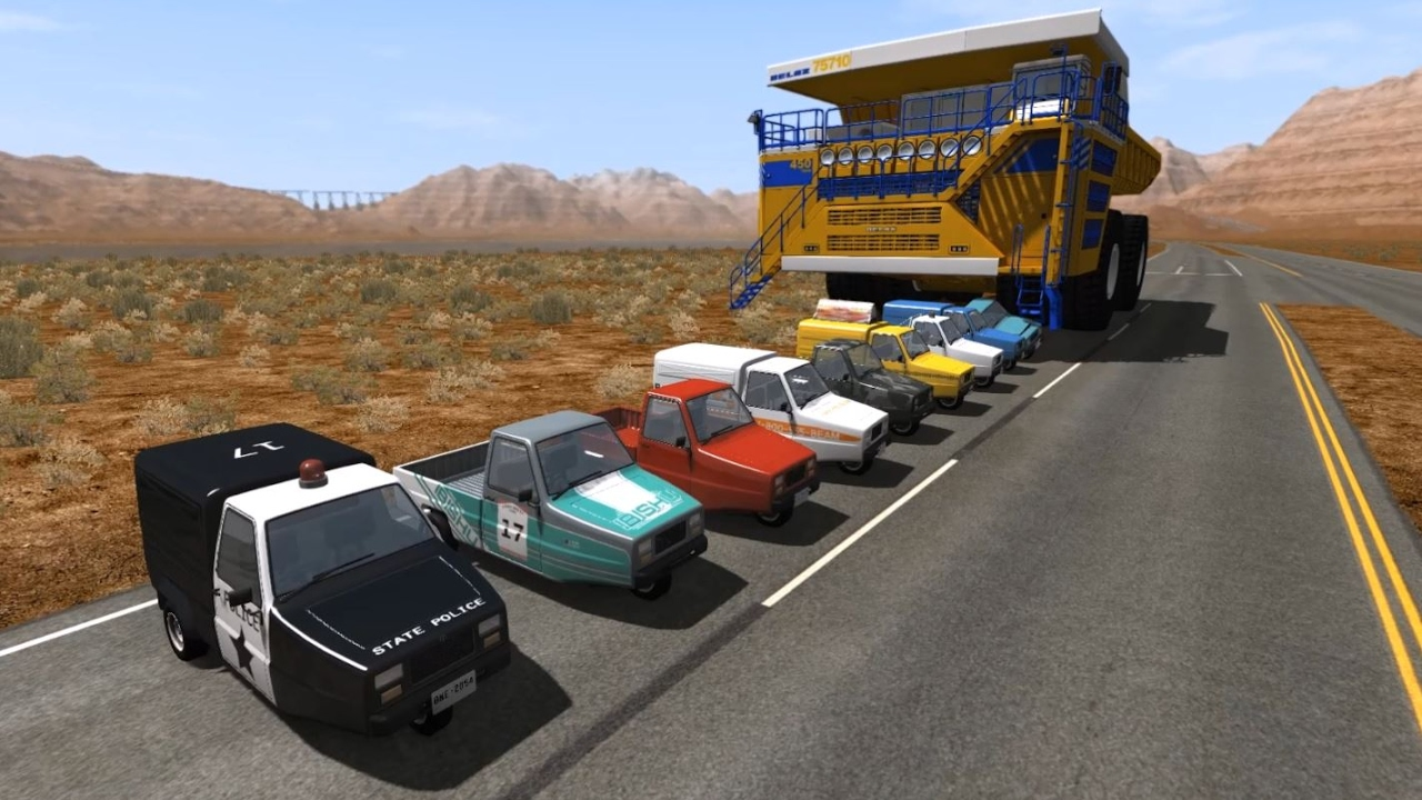 Belaz Car Crushing 2 | BeamNG.drive