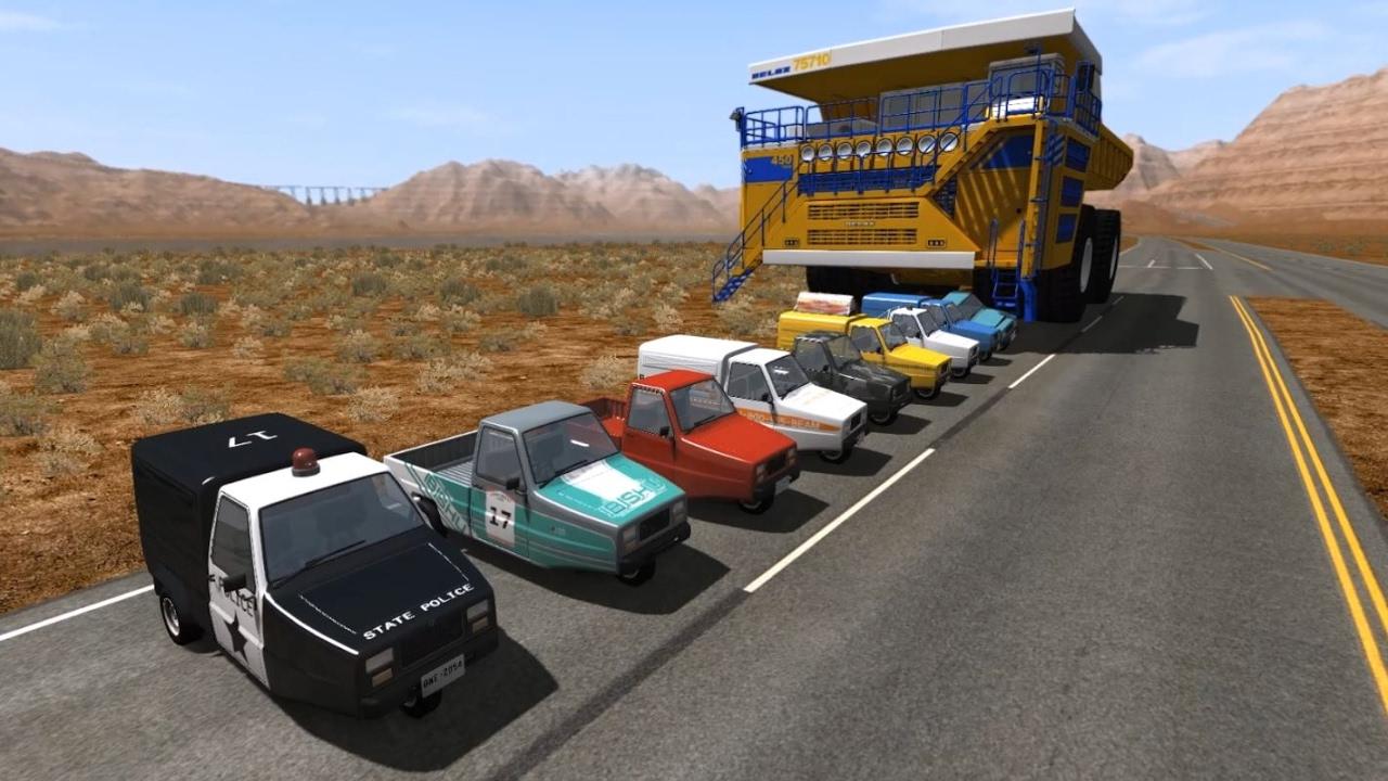 Belaz Car Crushing 2 | BeamNG.drive