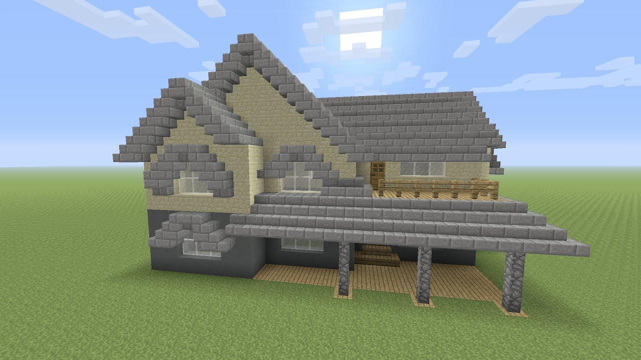 Minecraft een modern huis maken youtube for Huis maken minecraft