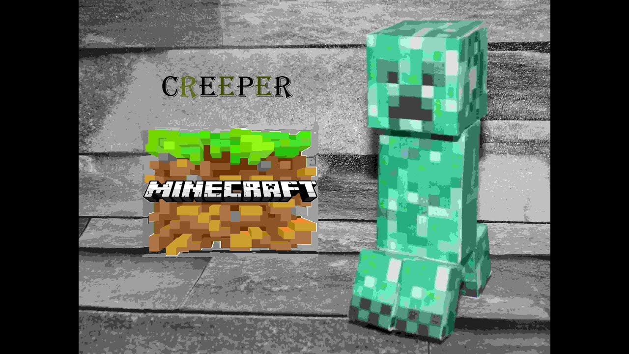 Custom Paper Crafts:Creeper Head - YouTube | 720x1280