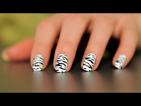 How to Do a Zebra Design | Nail Art Designs