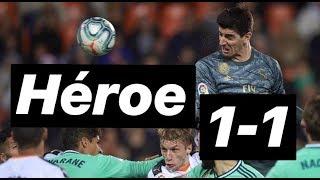 1-1 ¿Justo el empate entre Valencia y Real Madrid? Épica en Mestalla. #MundoMaldini