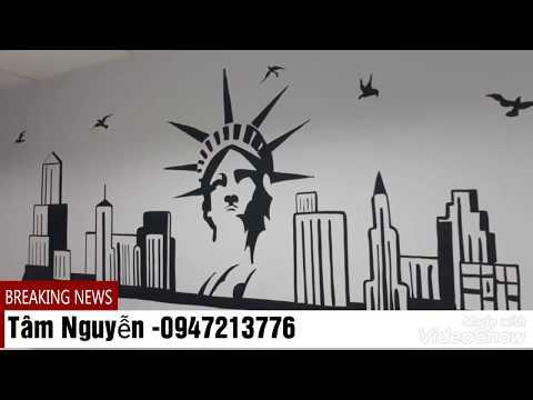 Cách vẽ Tranh chữ Nghệ thuật Trang Trí/Tranh tường Decor Văn Phòng Công Ty HR 1 Việt Nam :0947213776