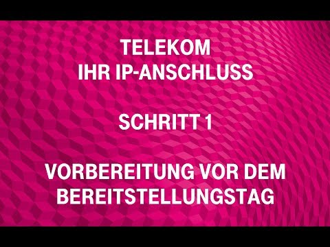 Social Media Post: Telekom - Ihr IP-Anschluss (Schritt 1): Vorbereitung vor dem...