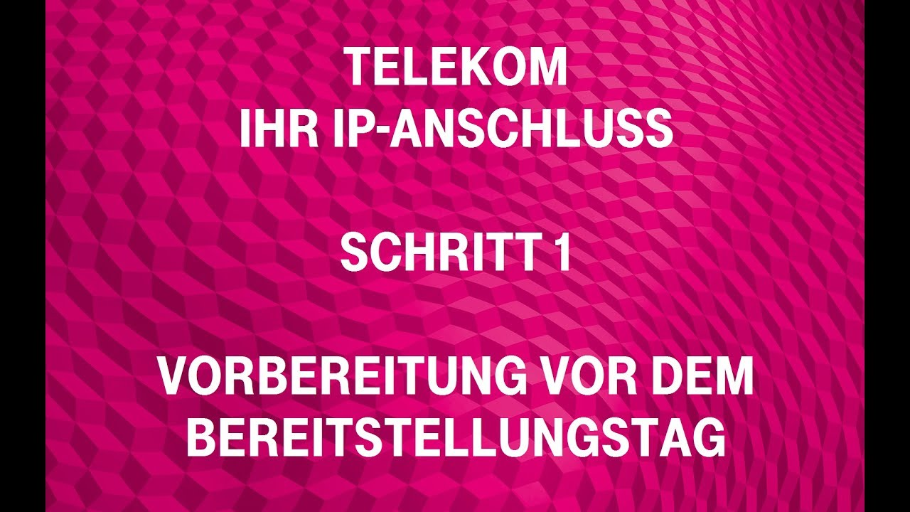 telekom ihr ip anschluss schritt 1 vorbereitung vor dem bereitstellungstag youtube. Black Bedroom Furniture Sets. Home Design Ideas