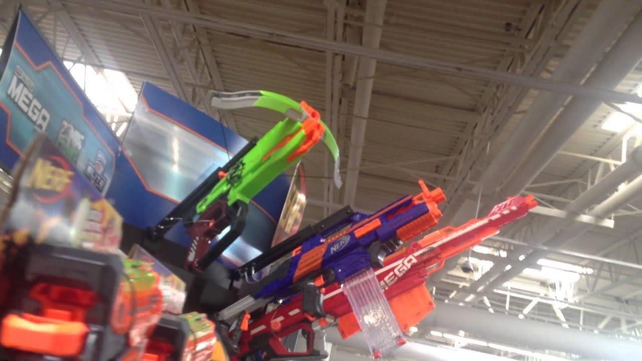 Walmart Toy Guns For Boys : Nerf gun display at walmart youtube