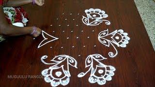 muggulu with dots simple kolam with dots kolam with dots step by step small muggulu with dots