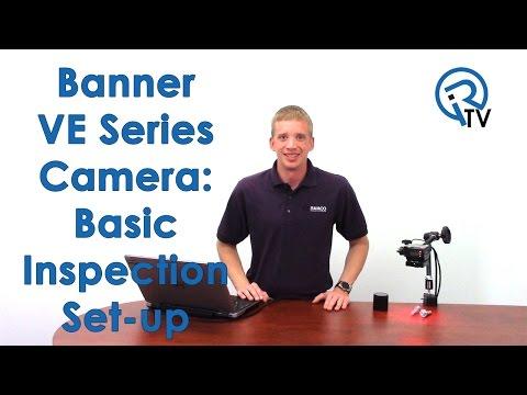 Banner VE Series Camera: Basic Inspection Set-up