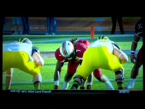 Jadeveon Clowney HUGE HIT - Best of 2013 already!!