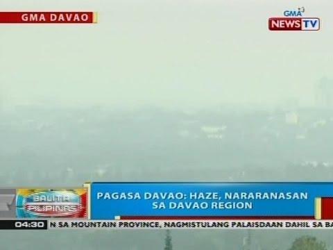 BP: Haze, nararanasan sa Davao Region, ayon sa PAGASA-Davao