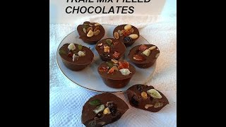 DIY, Home made TRAIL MIX CHOCOLATES recipe, VEGAN, candy