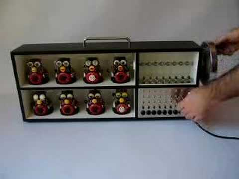 Circuit bent mechanical furby sequencer - The Furby Gurdy!
