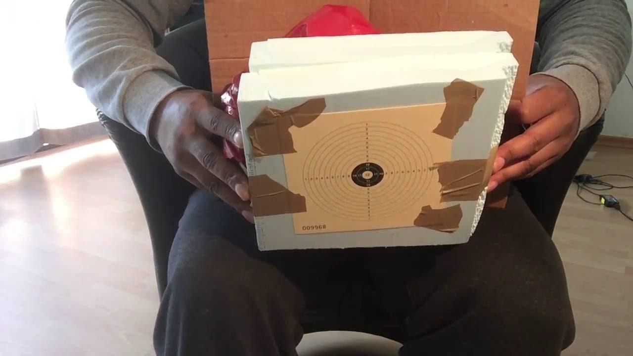 kugelfang selber bauen mit zielscheibe youtube. Black Bedroom Furniture Sets. Home Design Ideas