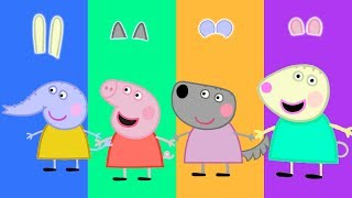 Wrong Ears Funny Peppa Pig Family Learn Colors Finger Family Song Nursery Rhymes for Kids
