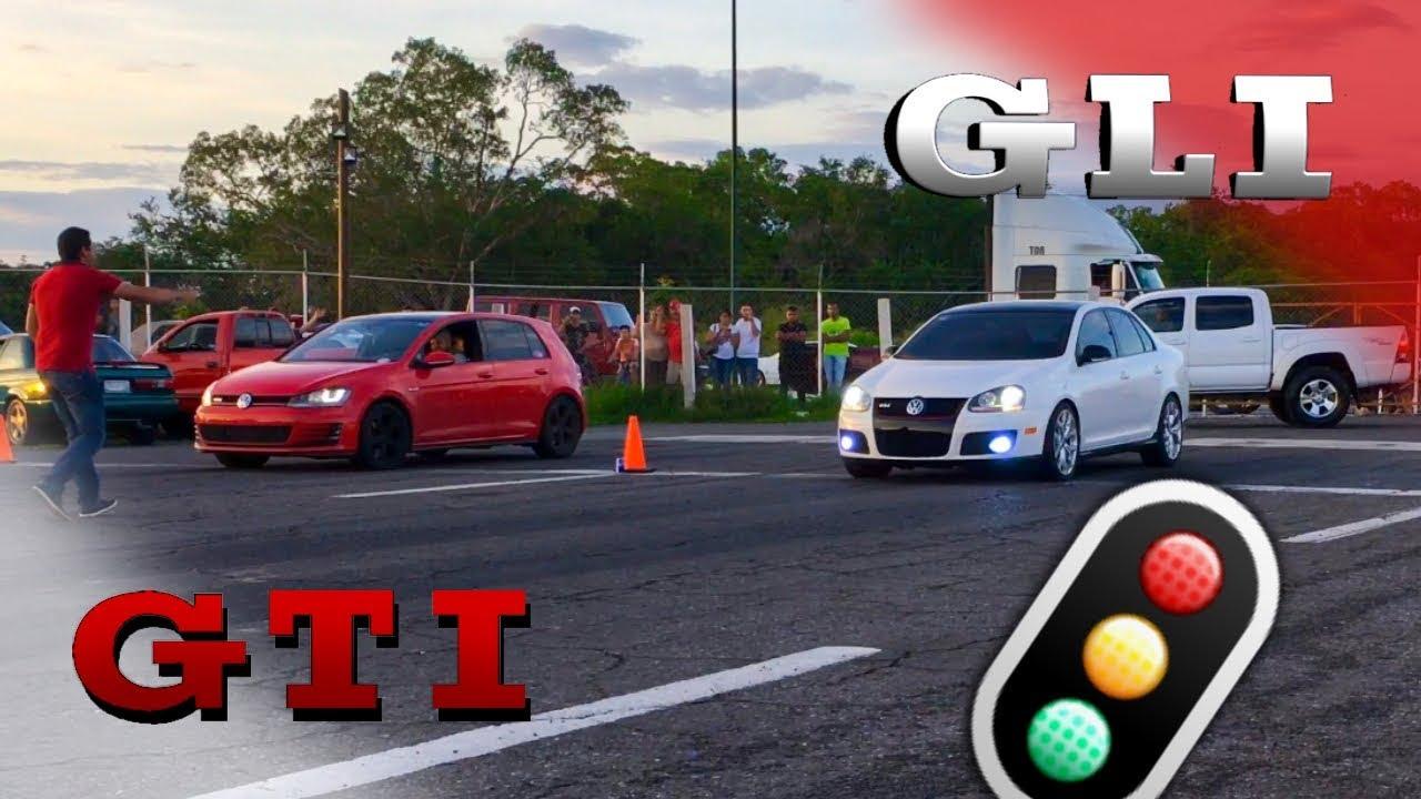 golf gti mk7 vs bora gli mk5 l drag race arrancones youtube