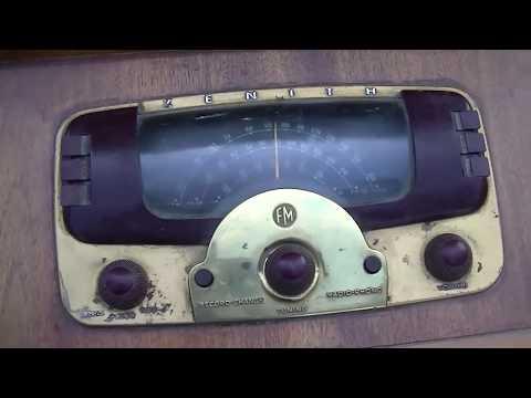 1948 zenith console AM FM radio