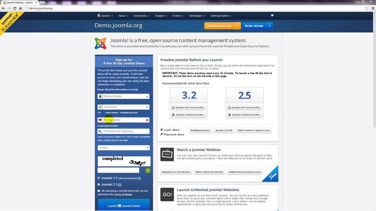 Demo Site - Joomla 3 Tutorial
