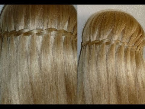 Waterfall Braid Hairstyle Easy and Quick Everyday Hairstyles