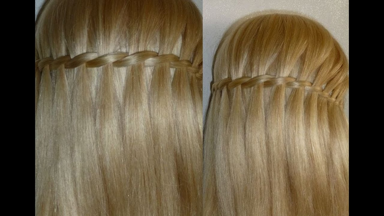 Waterfall Braid Hairstyle Easy And Quick Everyday Hairstyles For